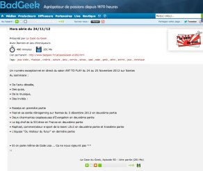 La case du geek : Radio (FR) 2012